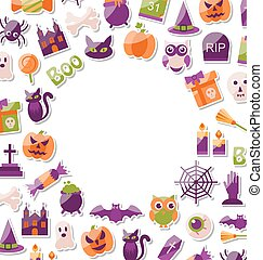 Halloween Clean Card with Place for Your Text