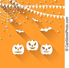 Halloween Paper Background - Illustration Halloween Paper...