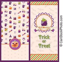 Halloween Postcards. Vertical Banners