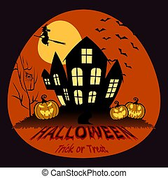 illustration., halloween, vecteur