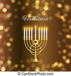 illustration., hanukkah, feiertag, hanukkah, name,...