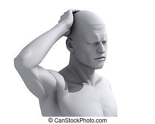 illustration, headache/migraine