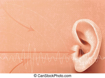 Hearing - Illustration Hearing concept