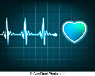 Illustration heart beat and a heart. EPS 8 - Illustration...