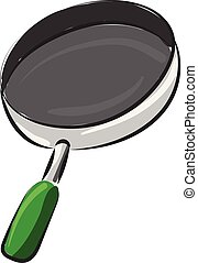 illustration., het beeld van de kleur, bovenzijde, -, vector, koperslager, bakken, of, pan
