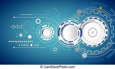 Illustration Hi-tech digital technology design blue color on circuit board.