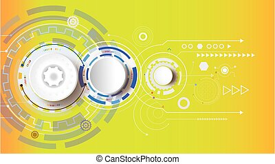 Illustration Hi-tech digital technology design colorful on circuit board