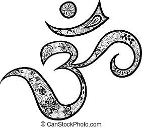 "Hieroglyph Om - Illustration ""Hieroglyph Om"" was created in ..."