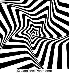 illustration., hypnotic, achtergrond., vector, black , witte