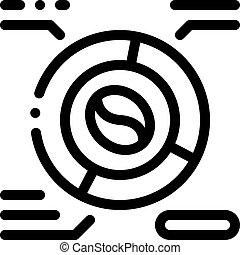 illustration, icône, café, contour, caractéristiques, vecteur