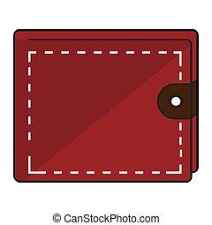 illustration, icône, vecteur, argent, portefeuille