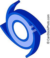 illustration, icône, vecteur, tornade, isométrique, cyclone