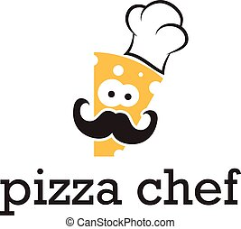 Illustration icon abstract chef in hat