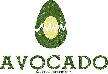 illustration icon Avocado Fruit Food