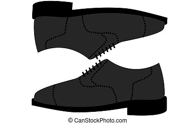 Illustration Icon of pair of men's shoes