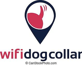 Illustration icon of wifi dog