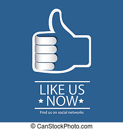 Illustration icon social networks, Facebook Icons, vector illustration