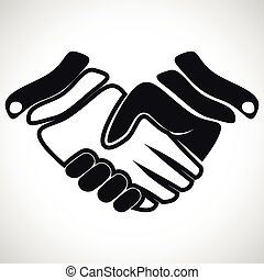 Illustration Icon Vector Handshake