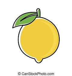 Illustration icon with lime fruit concept.