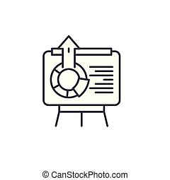 illustration., icona, segno, concept., simbolo, vettore, linea, interattivo, presentazione, lineare