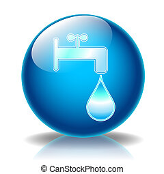 Fountain glossy icon