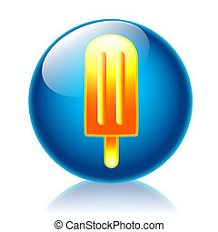 Icicle glossy icon