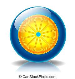 Orange glossy icon