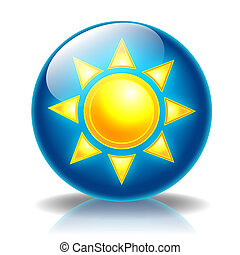 Sun Glossy icon