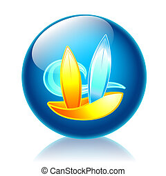 Surf glossy icon