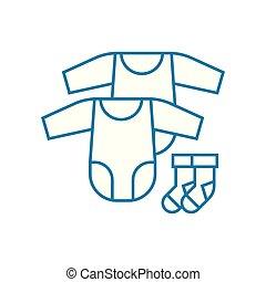 Fodra, ikon, hand, symbol, tvätta, kläder, linjär, delikat