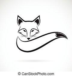 illustration., image, vecteur, animaux, conception, fond, renard blanc, sauvage
