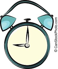 illustration., imagen del color, reloj, alarma, vector, o