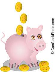 in pig piggy bank fall dollarsis
