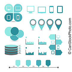 Illustration infographic design elements ideal to display for your information - vector