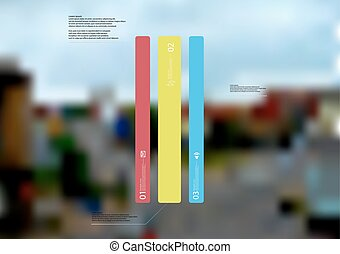 Illustration infographic template with bar vertically ...
