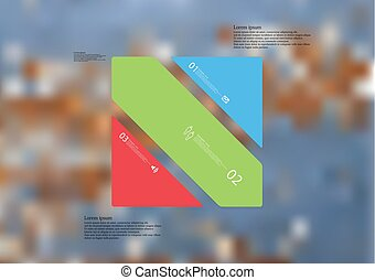 Illustration infographic template with rectangle askew ...