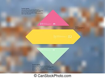 Illustration infographic template with rhombus horizontally ...