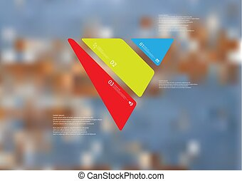 Illustration infographic template with triangle askew...