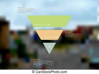 Illustration infographic template with triangle horizontally...