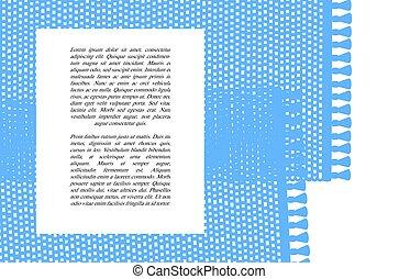 illustration, isolé, arrière-plan., vecteur, blanc, tapis