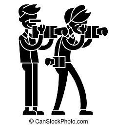 illustration, isolé, paparazzi, signe, vecteur, fond, icône