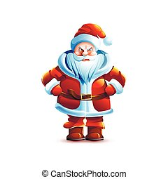 Illustration isolated character santa - Stock vector ...