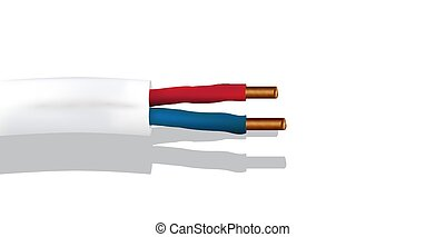 Illustration Isolated electric cable on white background