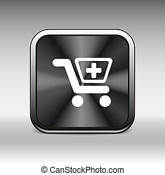 Illustration isolated shopping cart icon with a pharmacy sign