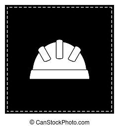 illustration., isoler, pièce, arrière-plan., noir, bébé, blanc, signe