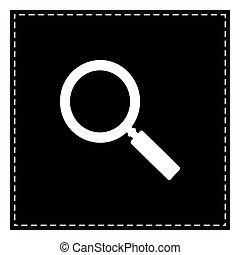 illustration., isoler, zoom, pièce, arrière-plan., noir, blanc, signe