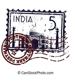 illustration, isoleret, indien, ikon, vektor, singel