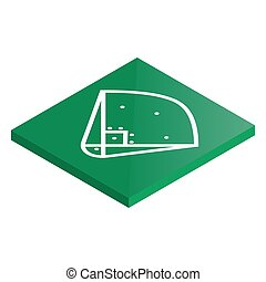 illustration., isométrique, vecteur, base-ball, cour de récréation, icône