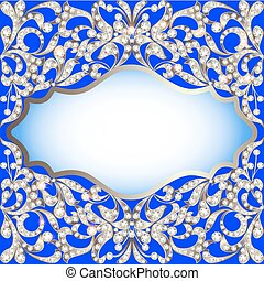 jewelry background with ornaments made of precious stones