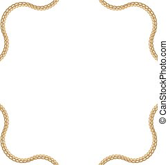 Golden Chain of Abstract Shape